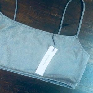 Grey L bunni Coulbourne top NWT